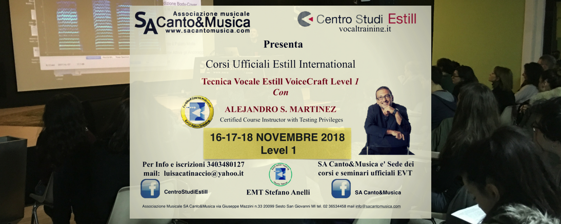 EVT 2018 level 1 Milano Nov