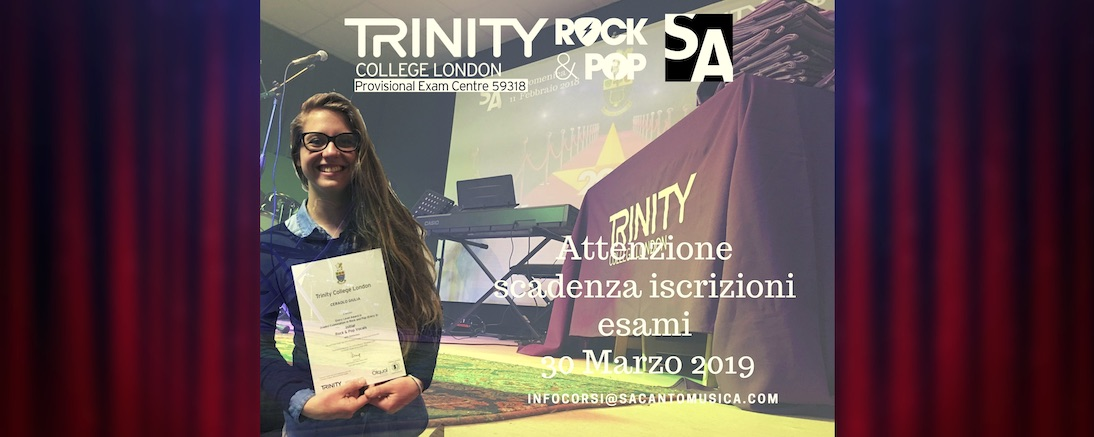 esami trinity 2019